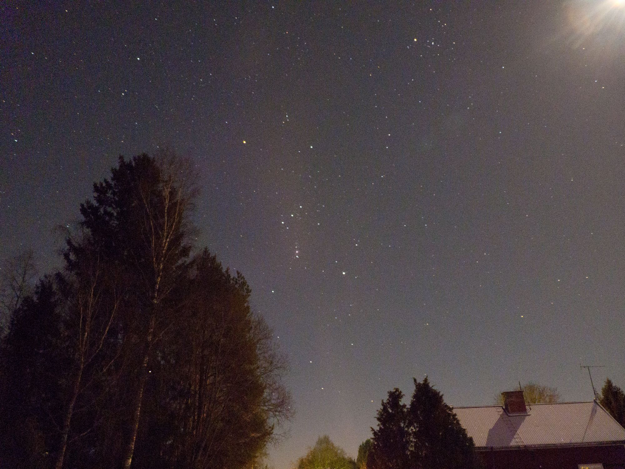 Orion and winter mooon